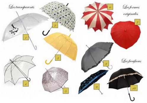 Parapluie a divers motifs