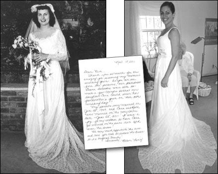 robe de mariage hérités de la famille à travers plusieurs générations