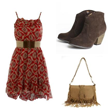 robe thique avec bottes chameau assorti avec sac bandoulire frange - Location De Chameau Pour Mariage