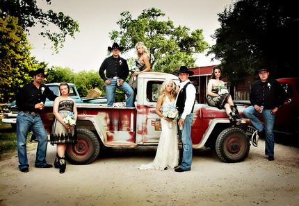 mariage à la ferme, cowboy