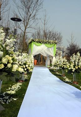 ... mariage à travers la décoration de la scène de mariage en hiver