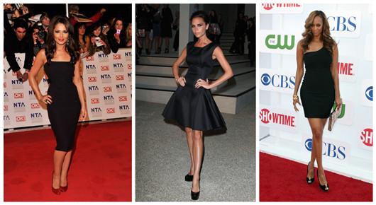 Petites robes noires courtes et élégantes Victoria Beckham