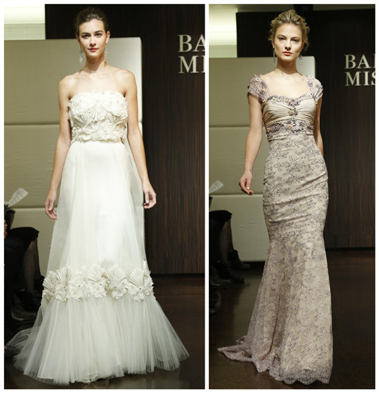 robes mariage longues avec appliques de Badgley Mischka