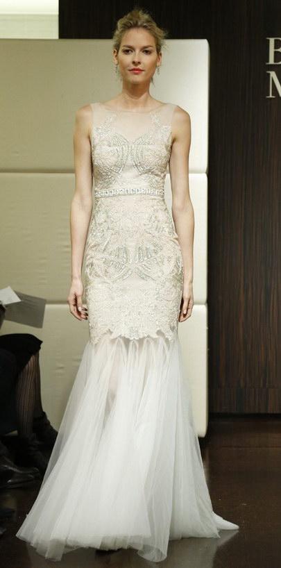 robe de mariée sirène longue sans manches