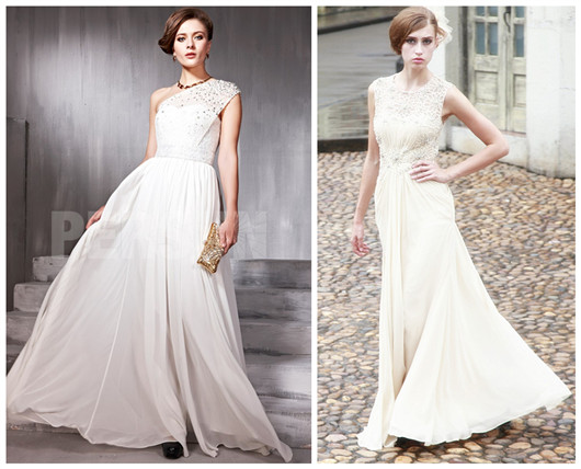 white formal evening dresses