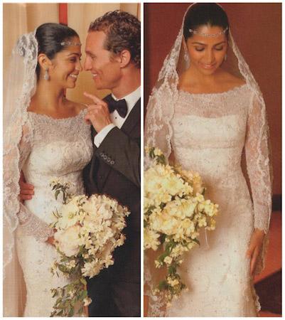 Noce de Camilla Alves & Matthew McConaughey, la robe dentelle pour mariage