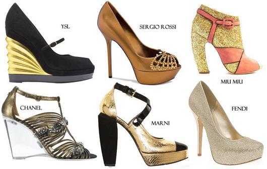 6 marques de chaussures pour correspondre avec la robe dorée
