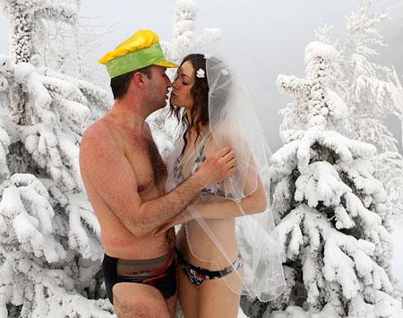 À la mariée bikini russe aren