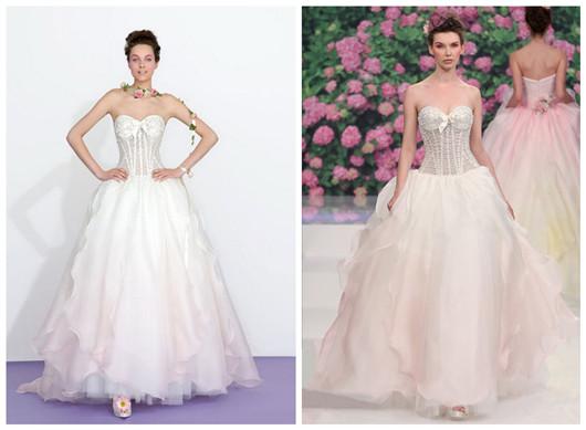 robes de mariée en rose