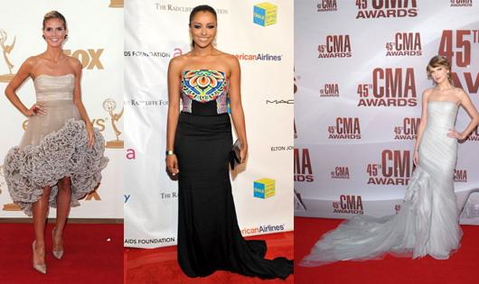 Heidi Klum, Katerina Graham et Taylor Swift portent les robes bustier ultra glamour !