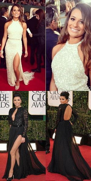 Robes fendues de Lea Michele et Eva Longoria, qui porte mieux la robe ?