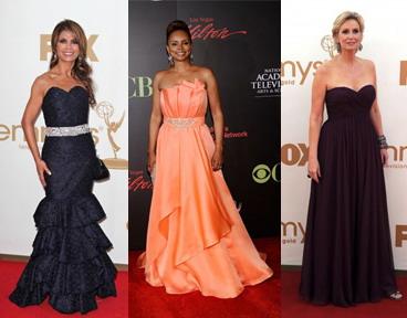 Paula Abdul, Debbi Morgan et Jane Lynch portent mal la robe bustier