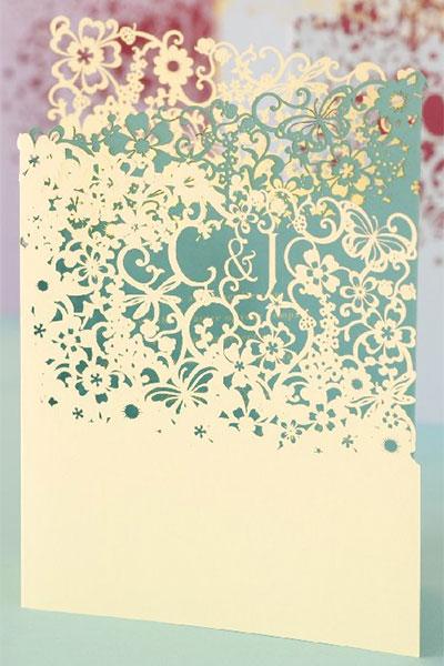 tendance 2013 pour mariage : invitation découpé de laser
