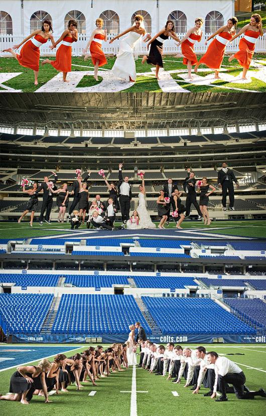 idée de lieu de mariage : stade, terrain de sport