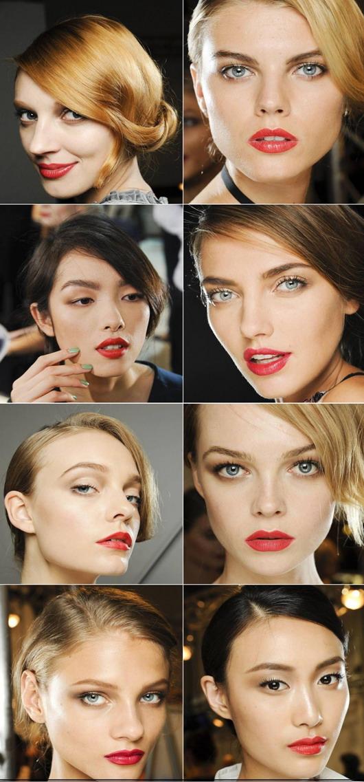 8 mannequin maquillé avec lèvre rouge classique