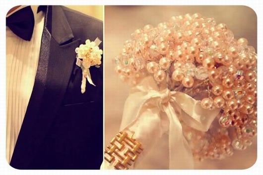 bouquet de mariage en perles
