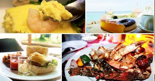nourritures pour le mariage de plage : fruits de mer