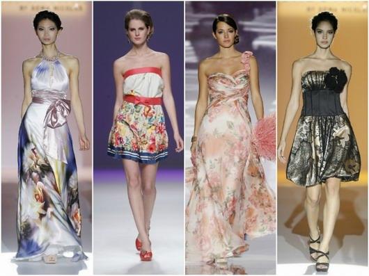 défilé des robes de soirée imprimées 2013