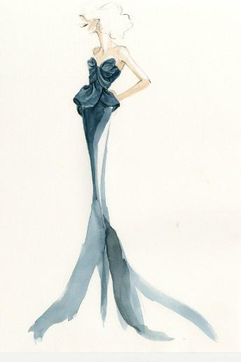 Une robe de sirène en couleur bleu mer pour la princesse Ariel