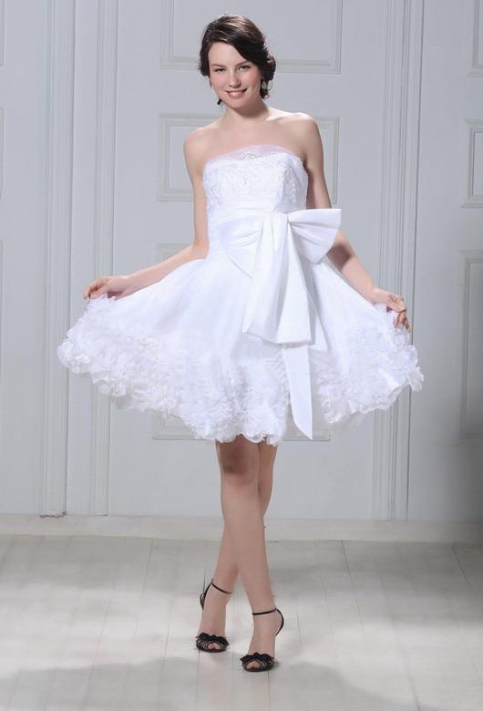 Robes de mariage courtes en organza : les plus romantiques de cette ...