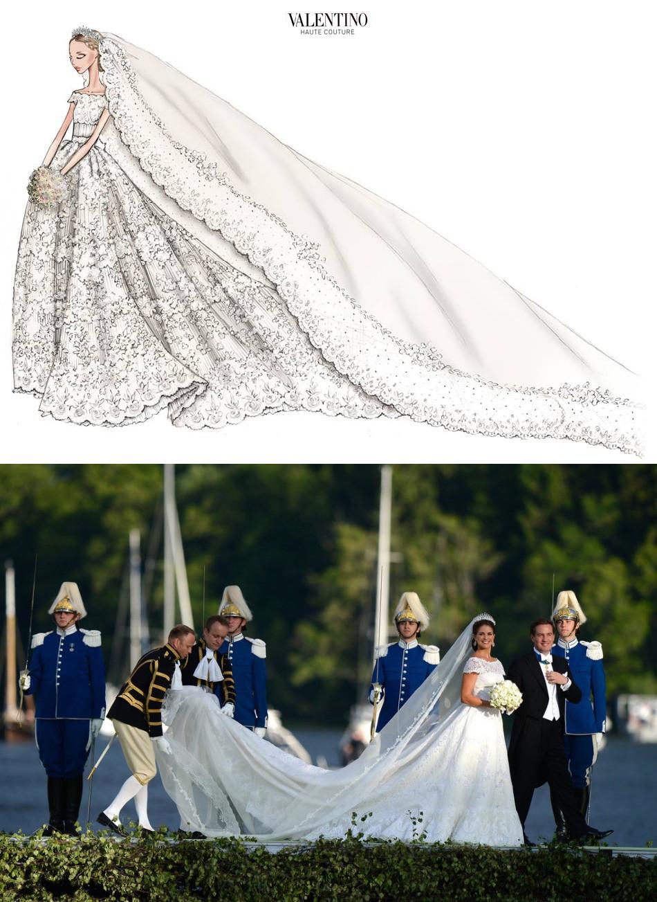 La robe de mariée de princesse Madeleine signée par le créateur Valentino Garavani