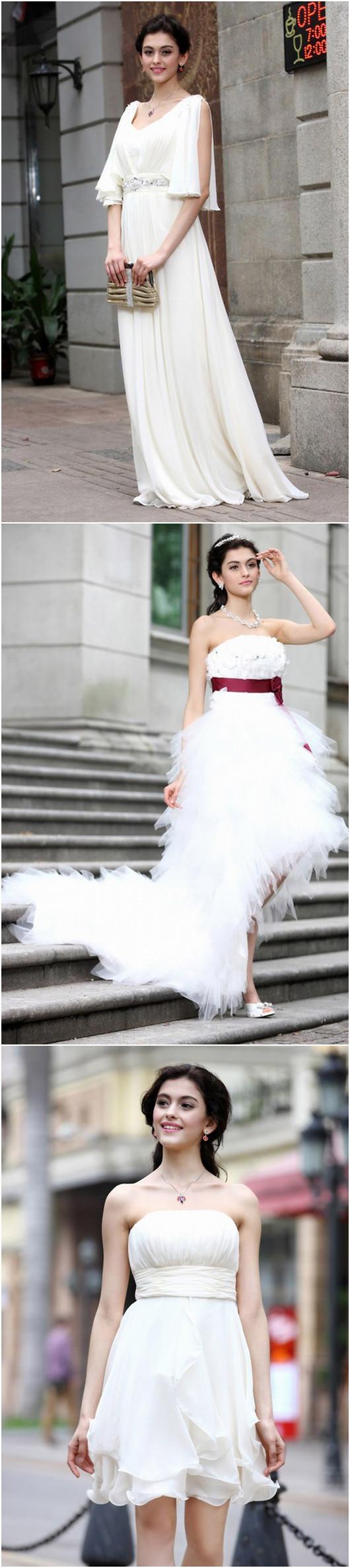 robe de mariée et robe demoiselle d'honneur en couleur blanche de Persun