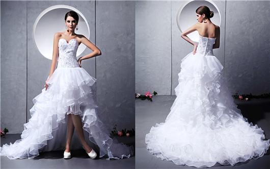 Robe de mariee princesse courte devant