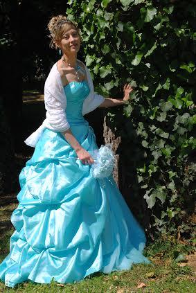 témoignage client pour site Persun.fr robe princesse bleu aqua