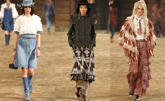 Les tenues avec les styles texan et amérindien.