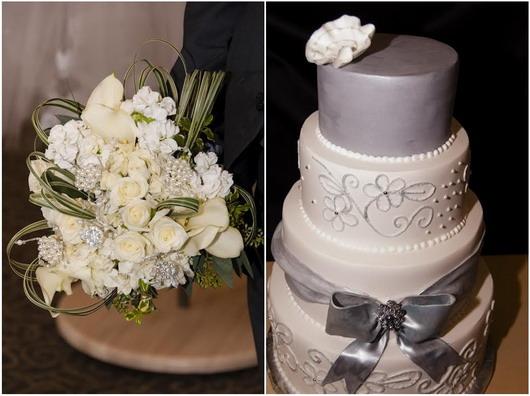 gâteau de mariage et fleur pour sullivan