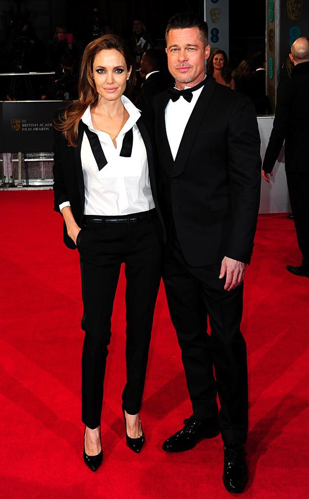 Brad Pitt et Angelina Jolie aux BAFTA Awards 2014
