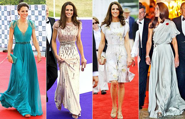 Quatres robes magnifique de Kate Middleton