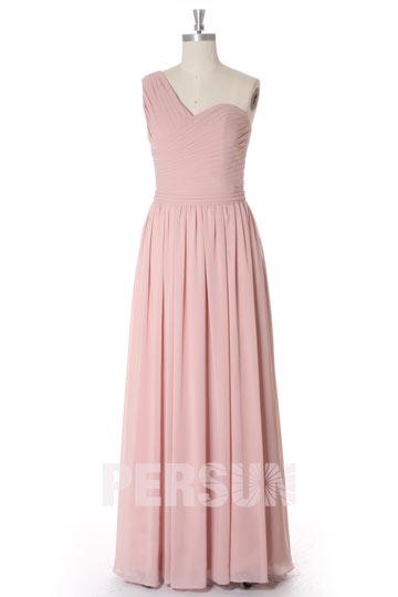 robe-longue-rose-carnation-cortege-mariage