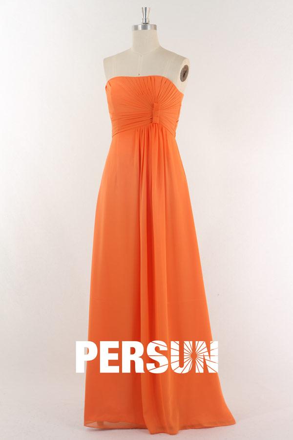 robe-mousseline-abricot-pour-femme-cortege