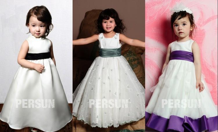 Robe adorable pour les enfants mariage