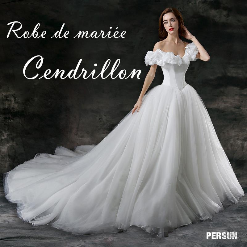 Robe de mariée inspirée de Cendrillon