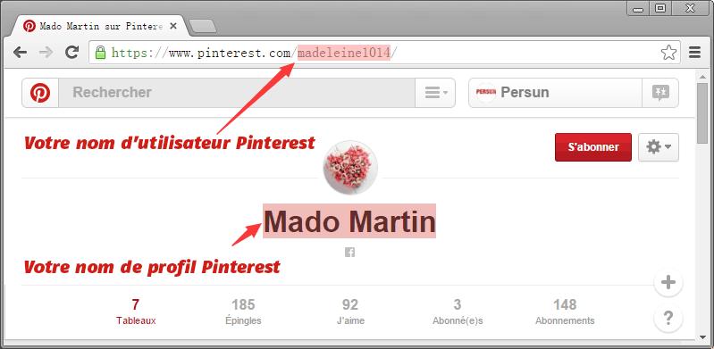 pinterest-nom-utilisateur