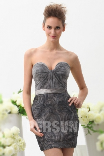 robe-de-cocktail-grise-sexy-bustier