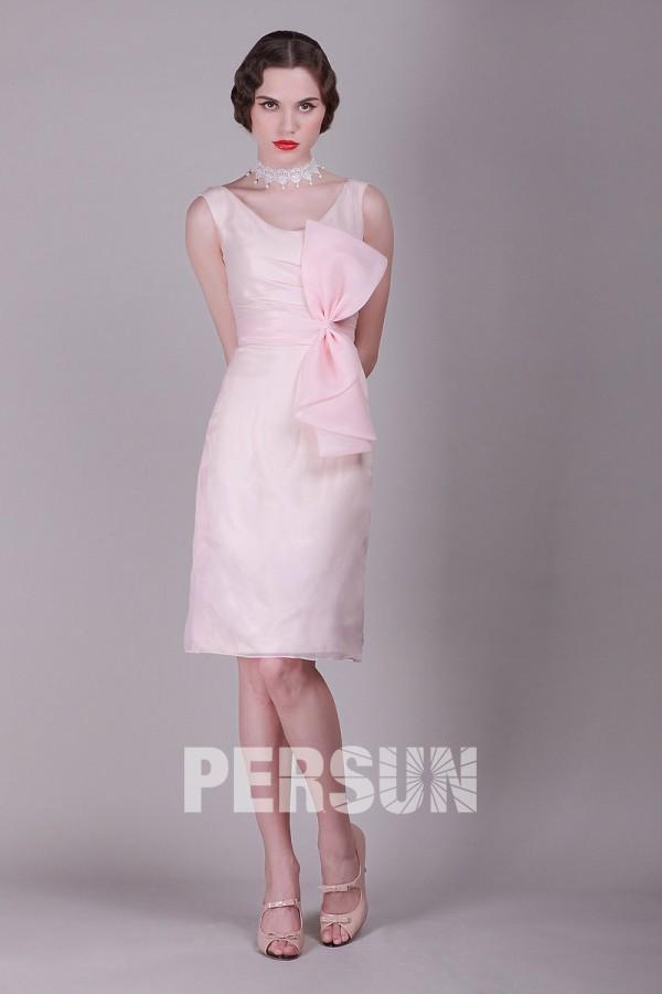 robe-de-soiree-vintage-rose-courte