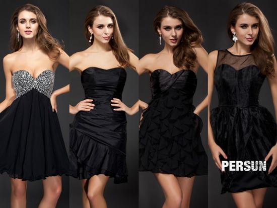 robe-de-cocktail-noire-bustier-coeur-sexy