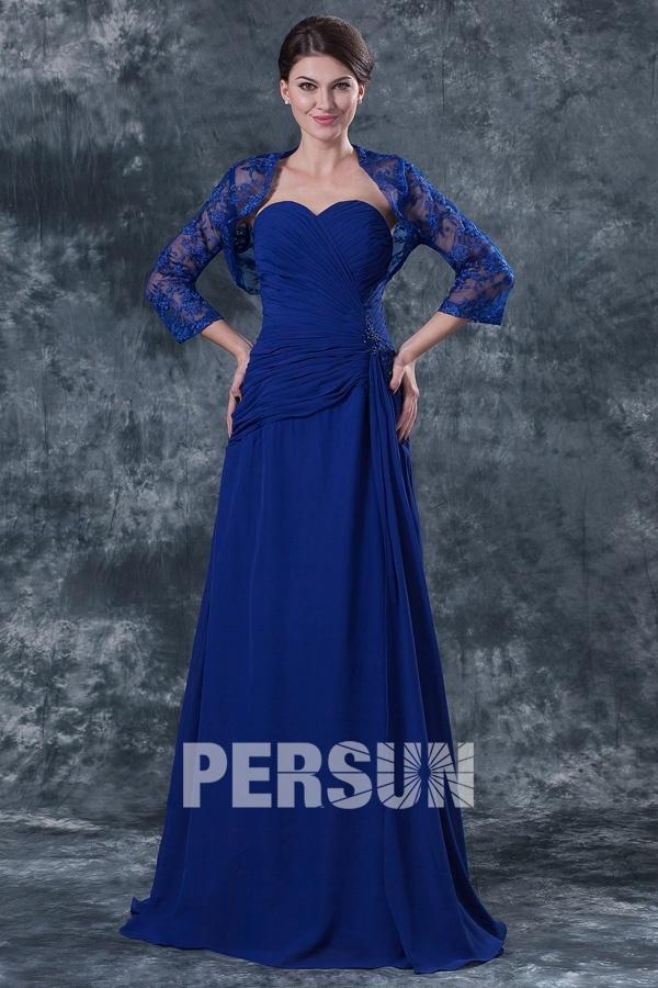 robe-bleu-fonce-elegante-pour-mere-de-mariee-ligne-a