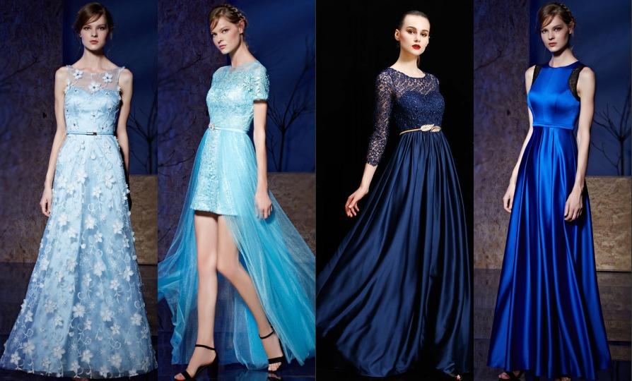 4 robes de bal bleu magnifique pour l'année 2018