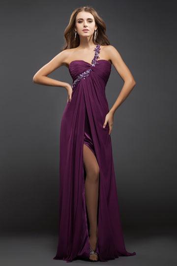 robe de soirée fente frontale
