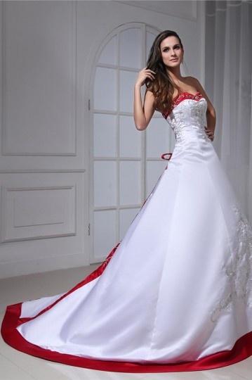 robe de mariée broderie paillettes bi-couleur en satin Palais colorié
