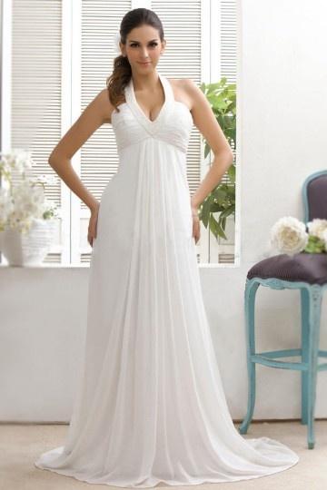 robe de mariée empire col américain sur mesure