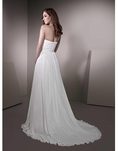 Robe de mariée Collection 2013 à A-ligne élégante en mousseline de soie sans bretelle avec fleur confectionnée à la main