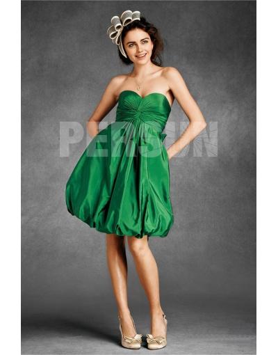 Robe de cocktail pour mariage verte