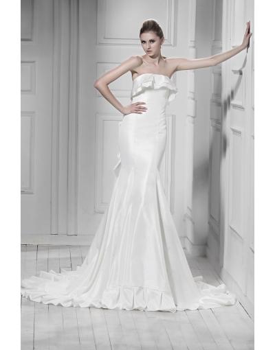 Robe de mariage sirène sans bretelle