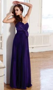 Robe de soirée violette pas cher en solde sur Persun.fr