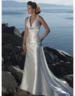 Légère robe de mariée plage - Persun.fr